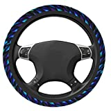 Dragon Scale Car Steering Wheel Cover Universal 15 Inch Breathable Anti-Slip Auto Steering Wheel Protector