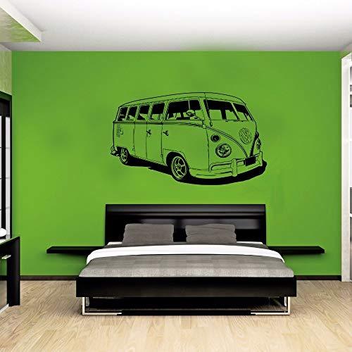 Wandtattoo Kinderzimmer Wandtattoo Wohnzimmer Car Vw Sticker Volkswagon Camper Van Retro Hippy Classic Wall Art Cut Decal for living room bedroom