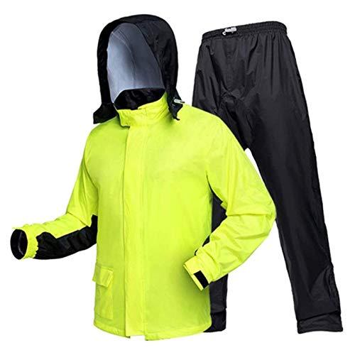 SHUILV Impermeable, Hombres Adultos Montando Traje Dividido la Ropa Impermeable del Cuerpo Femenino - Lluvia Verde Fluorescente (Color : Green, Size : X-Large)