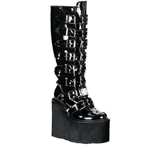 Demonia Swing-815 - Gothic Industrial Punk Mega Plateau Stiefel Schuhe 36-43, Größe:EU-38 / US-8 / UK-5