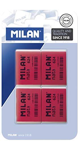 Milan BPM10054 - Pack de 4 gomas de borrar
