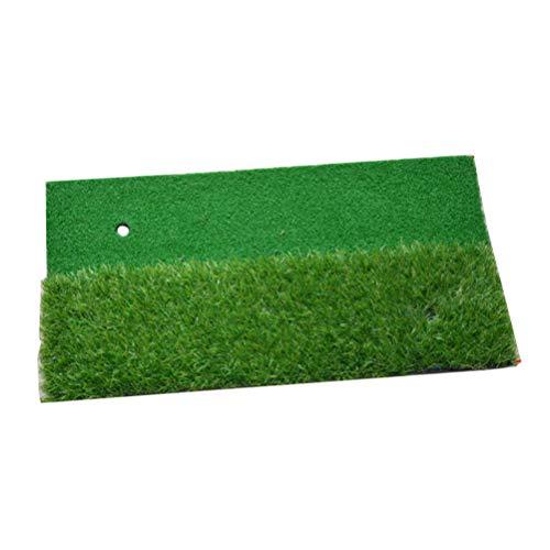 LIOOBO Tapis de Golf Portable Tapis d'entraînement Pratique de Golf Tapis Aides 2 Couleurs Herbe de...