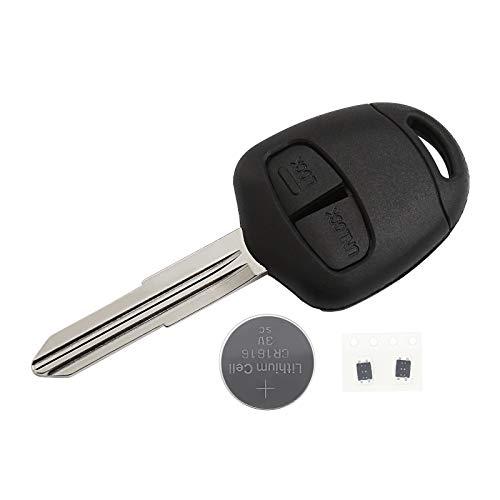 Carcasa de llave de sistance para coche con 2 botones compatible para lanzar llaves con ranura en virgen recta