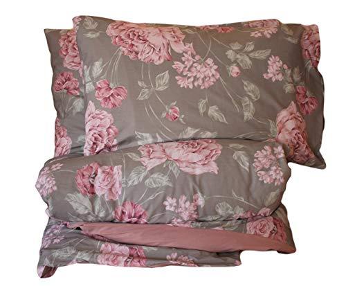 RICAMI FIORENTINI BALDI Funda nórdica reversible con fundas de almohada Ginebra algodón 100% también a medida, color rosa