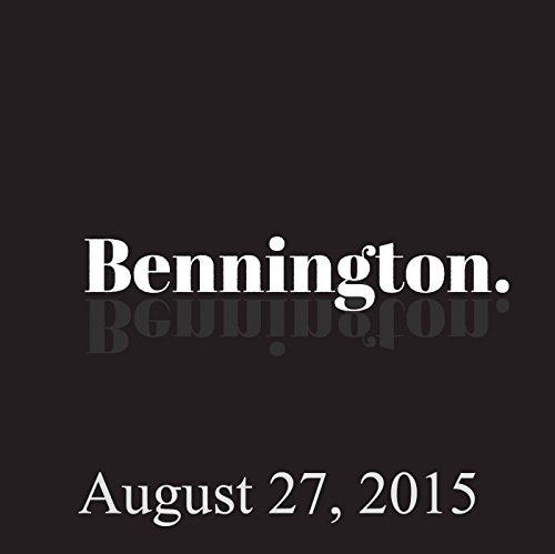 Bennington, Matteo Lane, August 27, 2015 audiobook cover art
