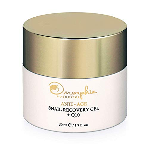 Omorphia Cosmetics Anti Age Snail Recovery Gel, Face Moisturizer with Non-Dehydrated Snail Mucin, The Snail Cream for Mature Skin, 50 ml (1.7 fl. oz.)