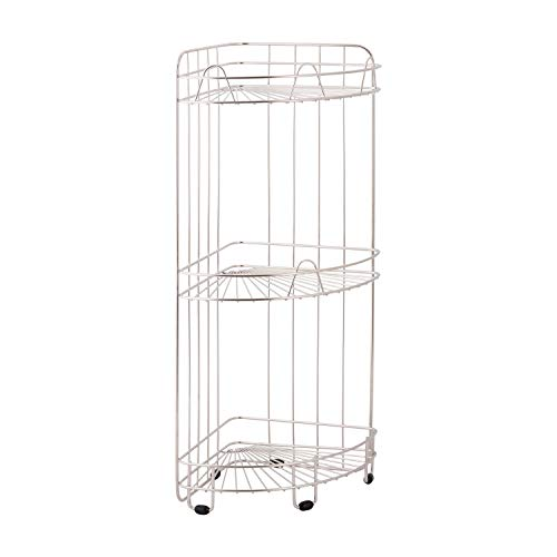 Organize It All 3-Tier Standing Shower Storage Caddy, Rust-Resistant, Chrome