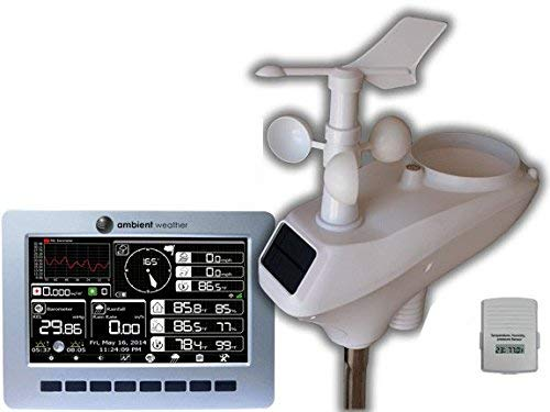 Ambient Weather WS-1200 Observer Solar Powered Wireless Weather Station w/Solar Radiation & UV