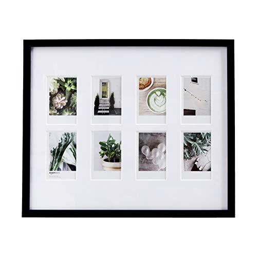 AmazonBasics - Marco de fotos de Instax, 8 huecos, 8 x 5 cm, color negro