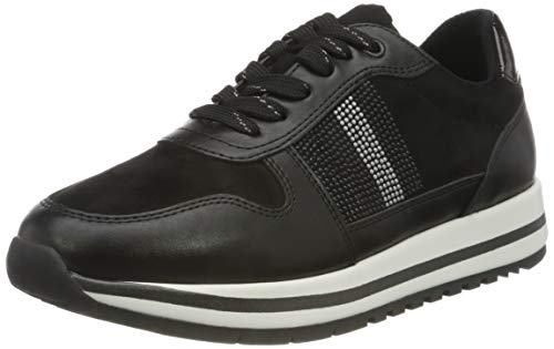 Jana 100% comfort Damen 8-8-23732-25 Sneaker, Black, 39 EU
