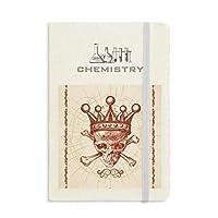 ダイヤモンドレッドクラウン骨格のポーカーのカード・パターン 化学手帳クラシックジャーナル日記A 5