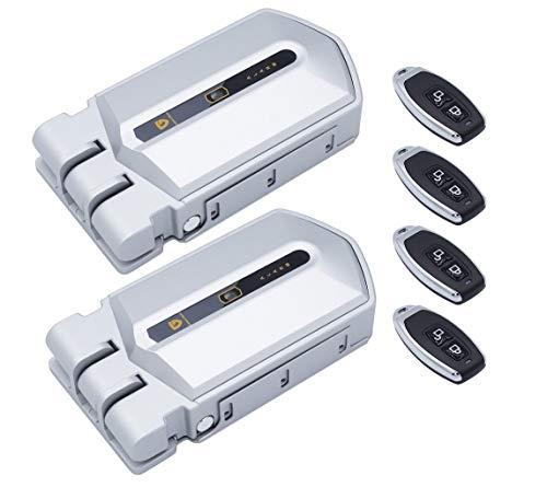 Duo Cerraduras invisibles con alarma 95db color plata contola 2 cerraduras con un mismo mando
