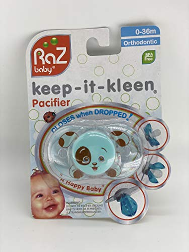 RaZbaby Keep-it-Kleen Pacifier - Percy Puppy by RaZbaby