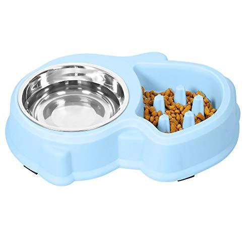 UPSKY Slow Feeder Dog Bowl Fun Feeder No Chocking Slow Feeder Bloat Stop Dog Food Water Bowl (Sky Blue)