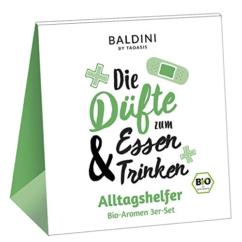 Baldini 3er Set Alltagshelfer Bio-Aromen mit Zitrone, Pfefferminze und Lavendel (je 5 ml), 114 g
