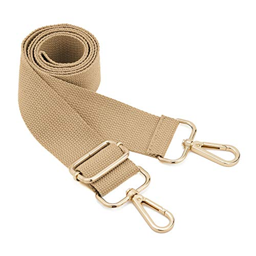 DEVPSISRWide Shoulder Strap Replacement Adjustable Belt Canvas Bag Crossbody Handbag (Light coffee)