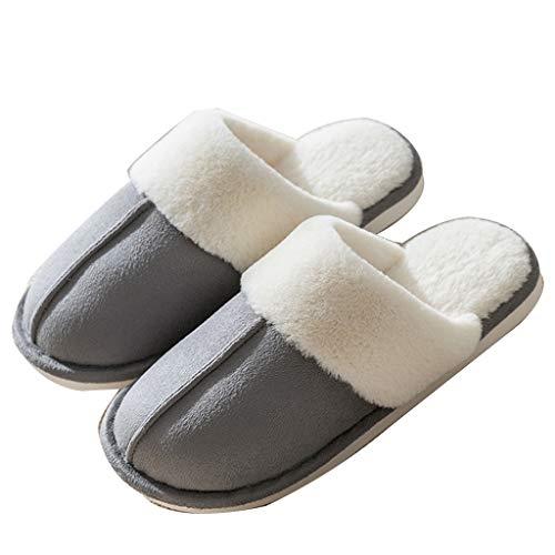 KFDS Traagschuim voor dames, gelinieerd, warme brede pasvorm, pantoffels, wasbaar in de wasmachine, maat