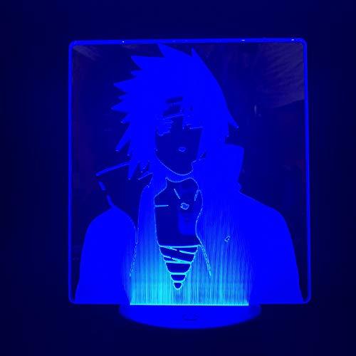 Led Vchiha Sasuke Naruto Cartoon 3D LED Nachtlicht USB Tischlampe Kinder Geburtstag Geschenk Nachtdekoration am Bett