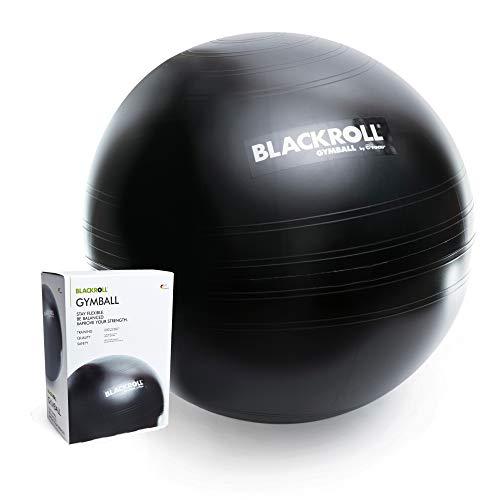 BLACKROLL® GYMBALL - das Original. Trainigs- und Sitzgerät in Einem Gymnastikball/Sitzball in schwarz