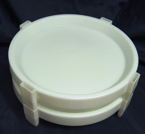 Tupperware Vintage Made in USA Set of 2 White Divide a Rack Pie Cupcake Stackers