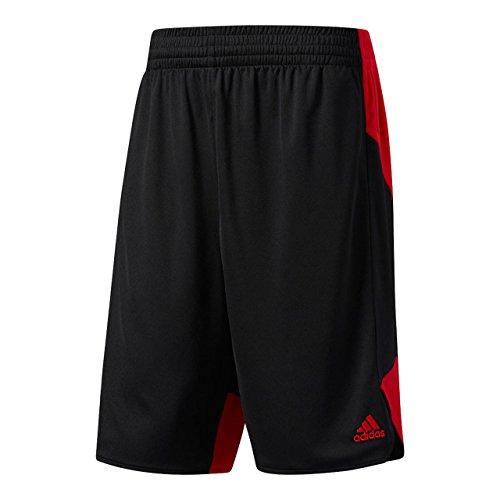(アディダス) adidas バスケットボールウェア PG TEAM ハーフパンツ DKO45 メンズ DKO45 BQ9162 ブラック/レッド J/O