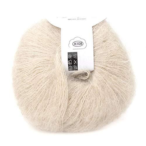 26g / rol zachte Angora mohair garen lange wol breigaren met haken voor kledingstukken sjaalsjaals pullover sjaal hoeden en knutselprojecten