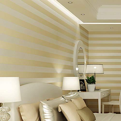 YangYun Heimdekoration, modern, minimalistisch, ländlich, luxuriös, gestreift, Vlies, für Wohnzimmer, Schlafzimmer, Fernseher, Hintergrund, Vlies, Vlies, Rolle, 0,53 m breit x 10 m lang = 5,3 m²