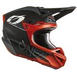 O'NEAL   Casco de Motocross MX Enduro   2 Carcasas y 2 EPS para Mayor Seguridad, Carcasa ABS, Protector de Nariz de Goma   5SRS Haze Polyacrylite V.22 Adulto   Negro Rojo   XL