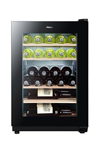 Haier WS25GA Weinkühlschrank / 77.0 cm Höhe / Kühlteil / Gefrierteil / UV undurchlässige Glasscheibe / LED Temperaturalarm