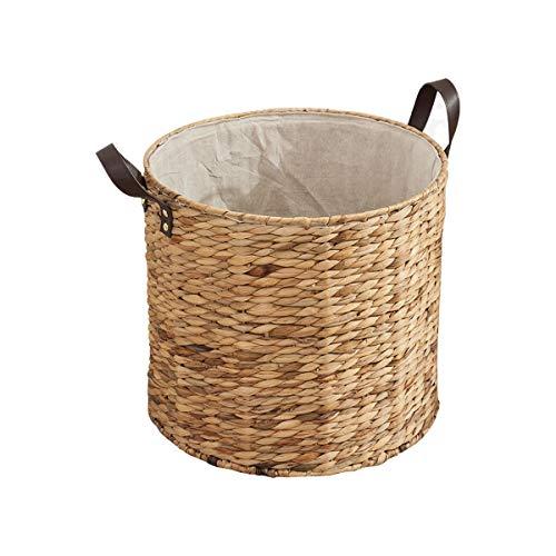 HUIJUNWENTI Korb Aus Rattan, Aufbewahrungskorb for Kleidung, Aufbewahrungseimer for Handgemachte Wäsche, Wäschekorb, Dreiteiliger Anzug Praktisches, einfaches Produkt (Color : A)