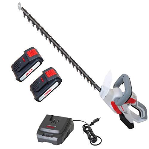 IKRA tijeras cortasetos a batería IAHS 20-1, incl. 2x batería y cargador rápido, longitud de corte 54cm