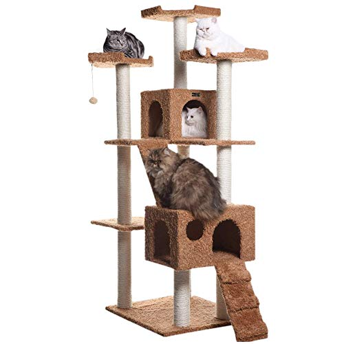 Armarkat Large 74' Cat Tree For Family With Couple Cats