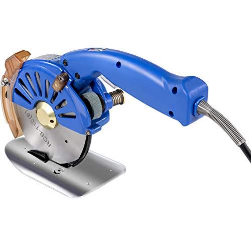 VEVOR Machine de découpe électrique bleue en cuir, Coupeur Rotatoire de Tissu de 110mm, Ciseaux Electriques Découpeuse de Tissu, électrique portable Chiffon 220V pour le vêtement