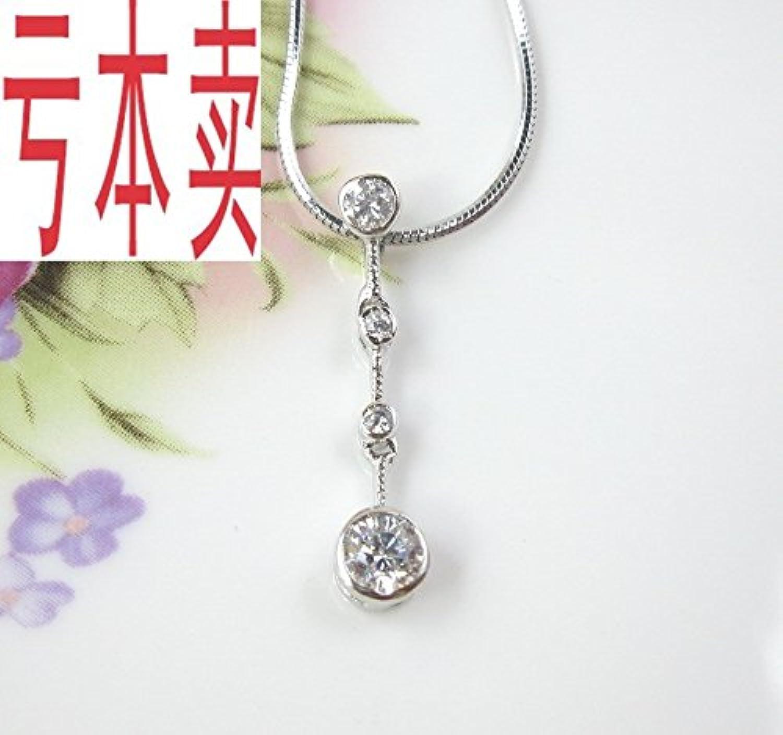 New Fashion Jewelry Elegant Women Girls Models Simulation Diamond Necklace Pendant 925 Sterling Silver Necklace Pendant Send 38
