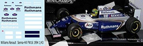 1/43 Williams Renault Senna Hill FW16 1994 Decals TB Decal TBD59