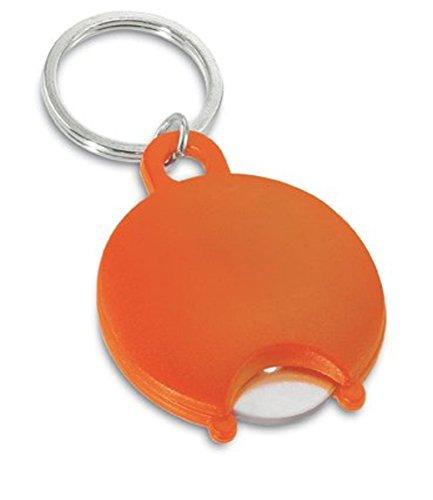 Einkaufswagenchip-/Münz-Halter / Schlüsselanhänger, Kunststoff inkl. transparentem Kunststoff-Chip im Polybeutel