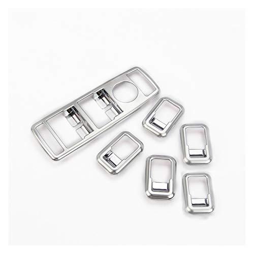 ZHIXIANG 5 Unids Fibra de Carbono ABS Ventana de elevación Interruptor de Interruptor Frame Ajuste para Mercedes Benz Gls Clase X166 Accesorios para automóviles (Color Name : Silver)