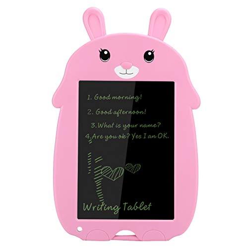 wosume Tableta de Escritura sin retroiluminación LED, Rendimiento Estable, Pizarra electrónica de Dibujo, sin radiación, tamaño Compacto para Oficina en casa(Pink Bunny)