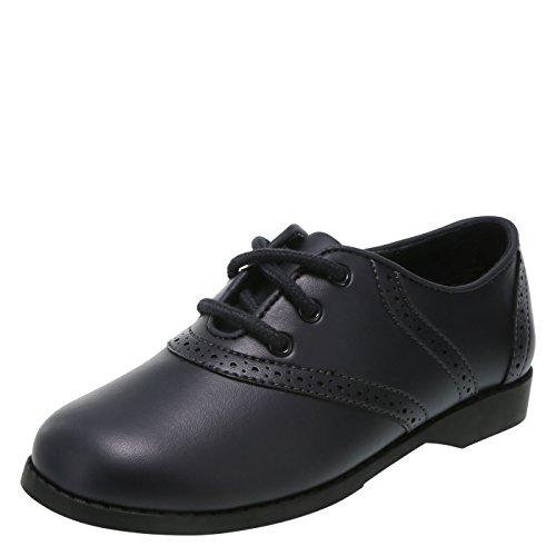 commercial Black SmartFit 4.5 Girls Saddle Oxford Shoes Standard smartfit girls shoes