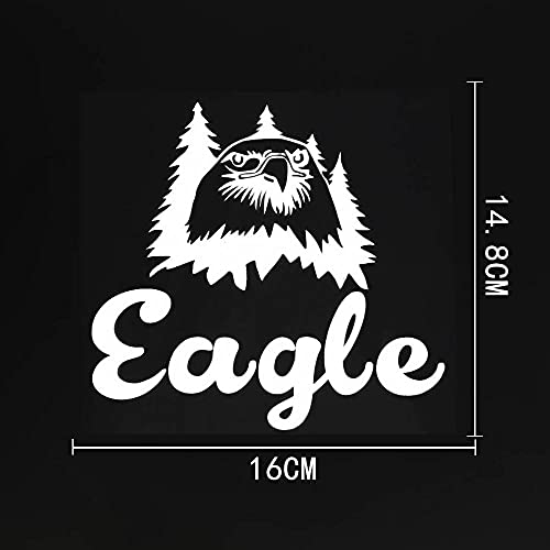 A/X Sticker de Carro 16 CM ¡Á 14,8 CM Hermosa Cabeza de águila y Silueta de Palma calcomanías de Vinilo para Coche 8C-0450