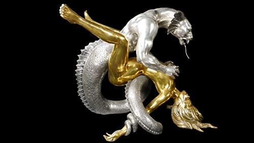 Bronze, Skulptur, Tisch, Figur, Dining Table, Erotik, Woman, Frau, Mädchen, Girl, Sexy, Luxus, Deko, Dragon Rape