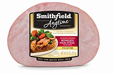 Smithfield, Anytime Favorites Fully Cooked Boneless Hickory Smoked Ham Steak, 8 oz
