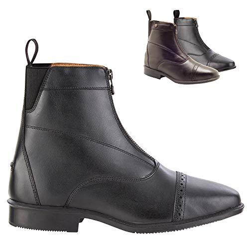 Botki »LEGACY FZ« z zamkiem błyskawicznym z przodu. Wygodne buty z miękkiej skóry i skóry wewnętrznej. Buty jeździeckie z podeszwą Ortholite. Świetne dopasowanie. Buty w rozmiarach 35-46. Kolor: czarny i brązowy., czarny - czarny - 46 EU