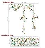 xiadsk Hanging Lamp Garten Affen Höhe Maßnahme Wandaufkleber für Kinderzimmer Schmetterling Zaun Blume Messlatte 3D Kinderzimmer Dekor Poster
