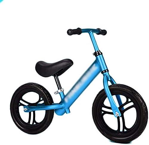 Senior Balance Bike für Kinder im Alter von 1,5 bis 6 Jahren   Aluminium Best Sport Push fürrad für Jungen und mädchen, mit verstellbarem Lenker, kein Pedal (Farbe   Blau, Größe   Style1)