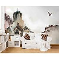 xueshao 3D壁紙都市建築抽象芸術3Dリビングルームテレビ背景壁紙3D-350X250Cm