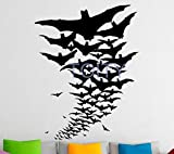 supmsds Vampire Bat Wall Vinyl Decal Sticker Home Interior Nursery Bedroom Decor Wall Mural Design 73X57CM