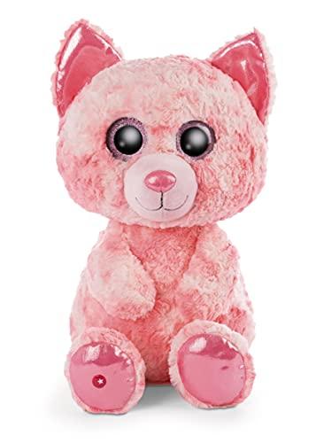 NICI 47185 Original – Glubschis Dreamie 45cm – Kuscheltier Katze Augen – Flauschiges Plüschtier mit großen Glitzeraugen – Schmusetier für Kuscheltierliebhaber, pink