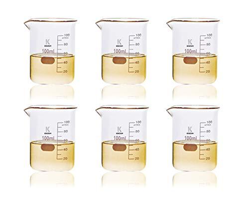 KENZIUM - Pack 6 x Vasos de Precipitados, de 100 ml |...