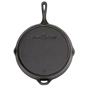 Camp Chef 14  Seasoned Cast Iron Skillet